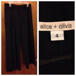 Size 4 Black Bottoms by Alice + Olivia